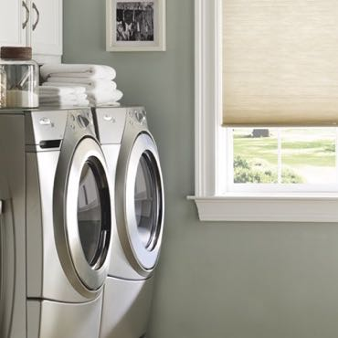 Southern California laundry room cellular shades.